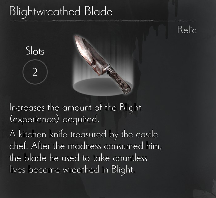 Blightwreathed Blade Relic