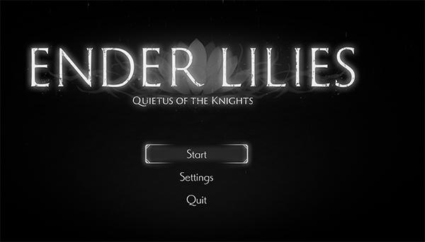Ender Lilies - Start Screen