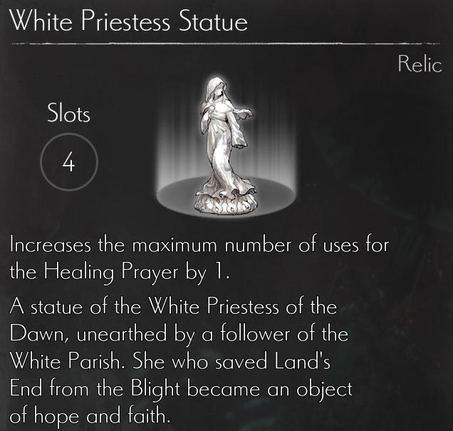 White Priestess Statue