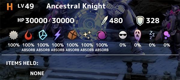Ancestral Knight Stats