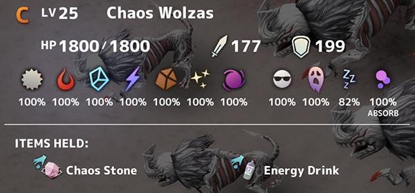 Chaos Wolzas Lv25