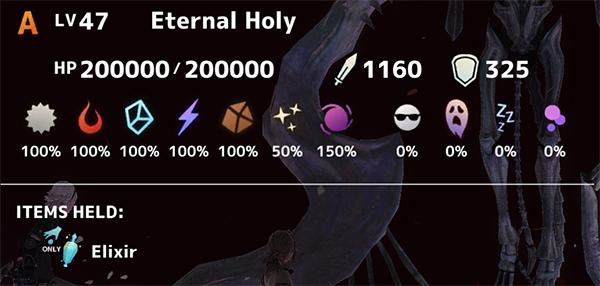 Eternal Holy Stats