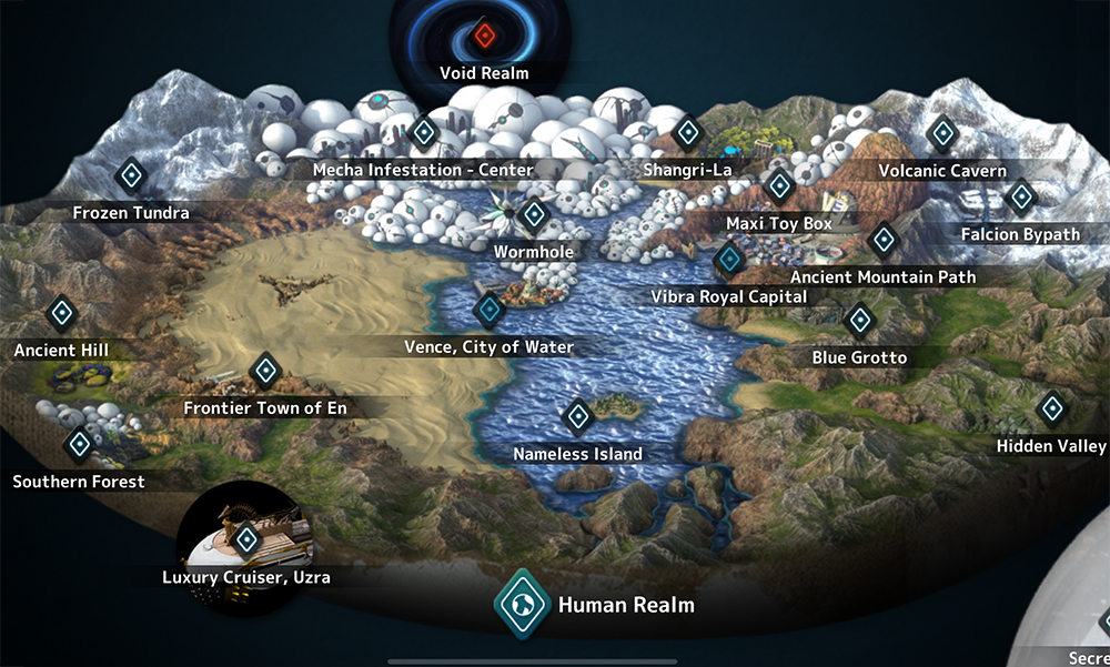 Fantasian World Map - Human Realm