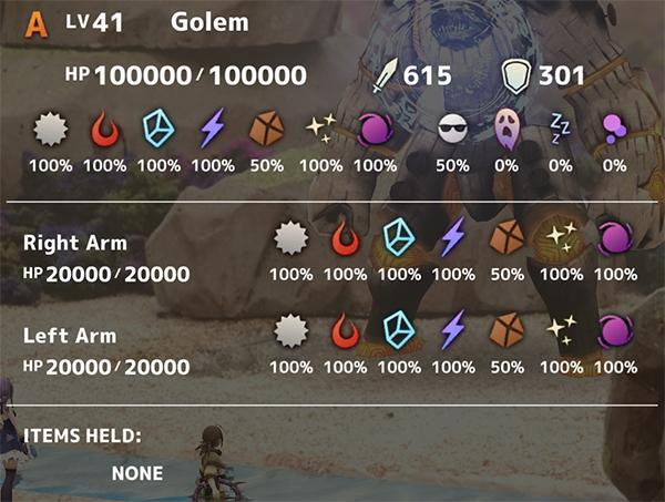 Golem Stats