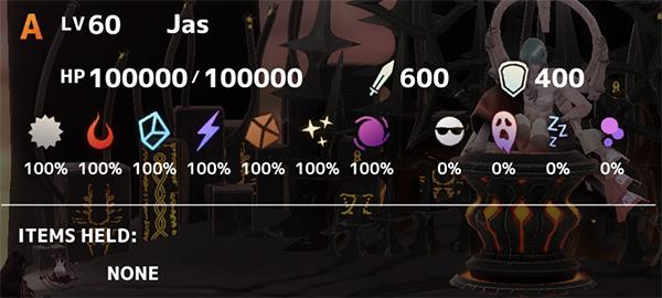 Jas Boss Battle Stats
