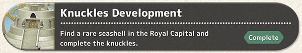 Knuckles Development - Fantasian