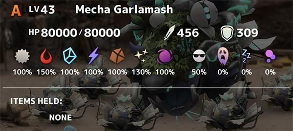 Mecha Garlamash Stats
