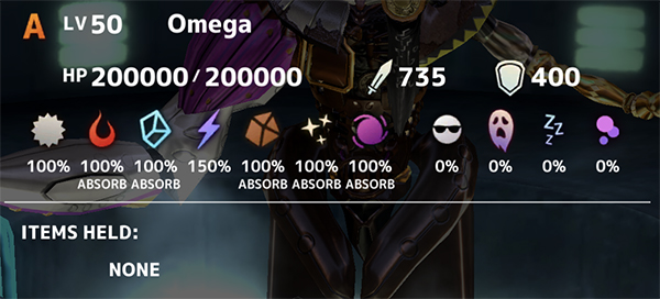 Omega Boss Stats