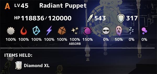 Radiant Puppet Stats