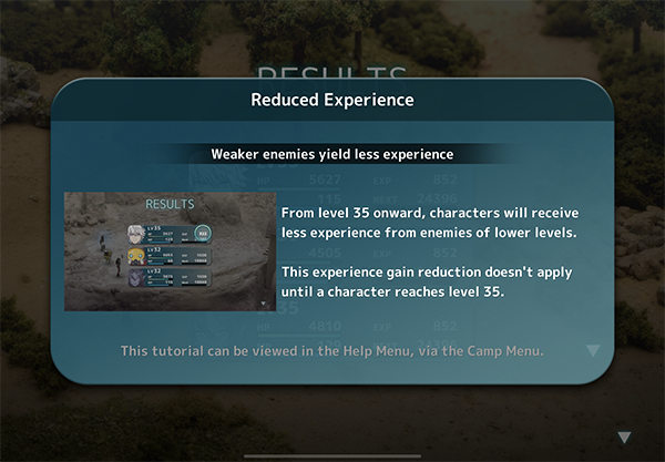 Reduced Experience