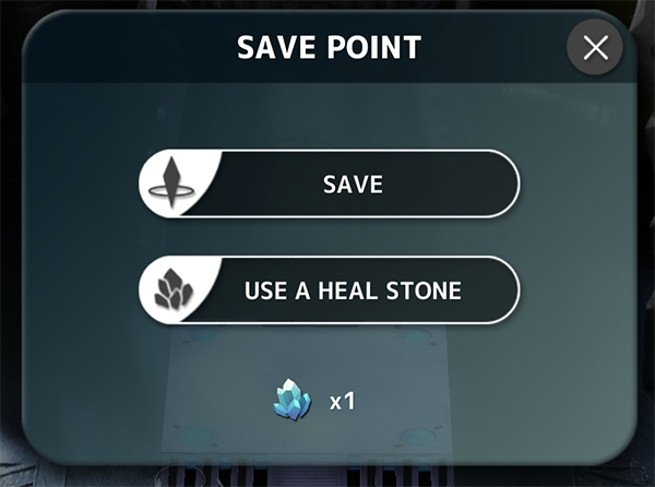 Save Point Heal Stones