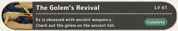 The Golem's Revival