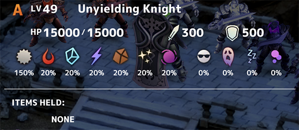 Unyielding Knight Stats