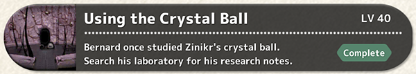 Using The Crystal Ball - Fantasian Quest