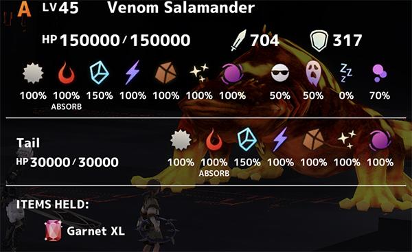 Venom Salamander Stats