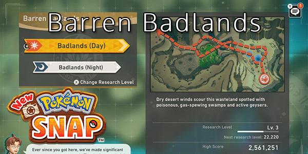 New Pokemon Snap - Barren Badlands