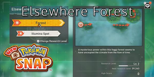 New Pokemon Snap - Elsewhere Forest - Pokemon List