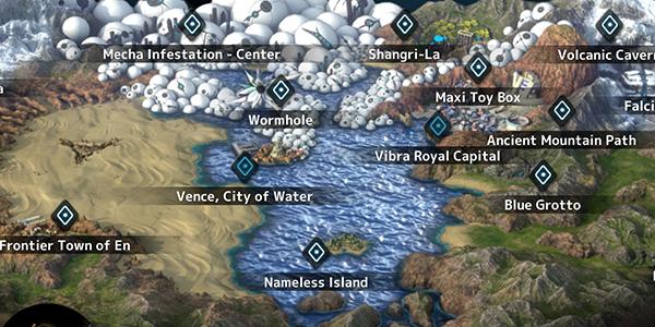Fantasian World Map - All Locations