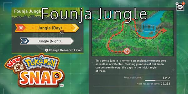 New Pokemon Snap - Founja Jungle - Pokemon List