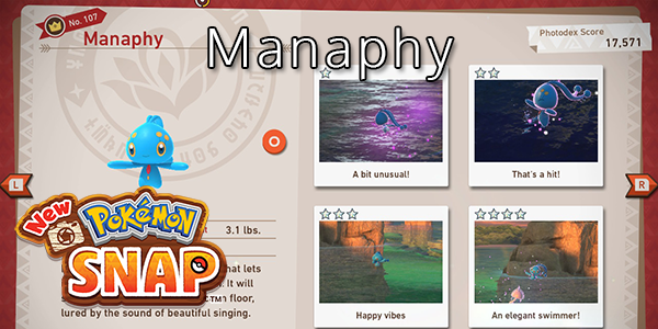 New Pokemon Snap - How To Find Manaphy (All Stars)