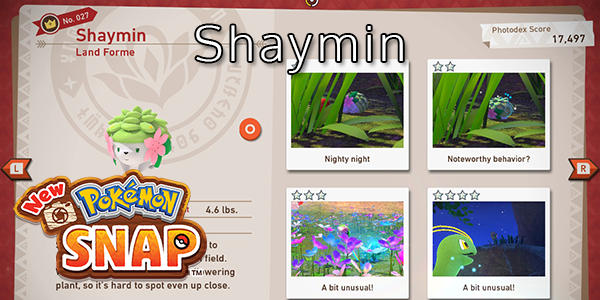 New Pokemon Snap - How To Find Shaymin (All Stars)