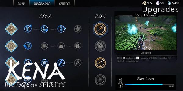 Kena: Bridge Of Spirits - All Upgrades