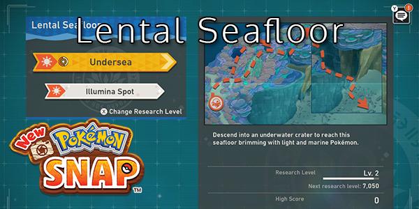 New Pokemon Snap - Lental Seafloor - Pokemon List