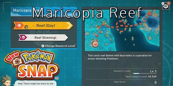 New Pokemon Snap - Maricopia Reef - Pokemon List