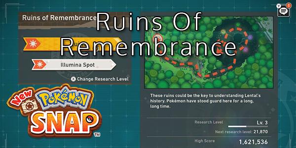 New Pokemon Snap - Ruins Of Remembrance - Pokemon List