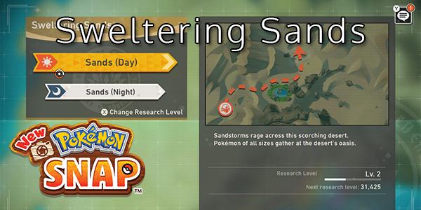 New Pokemon Snap - Sweltering Sands - Pokemon List