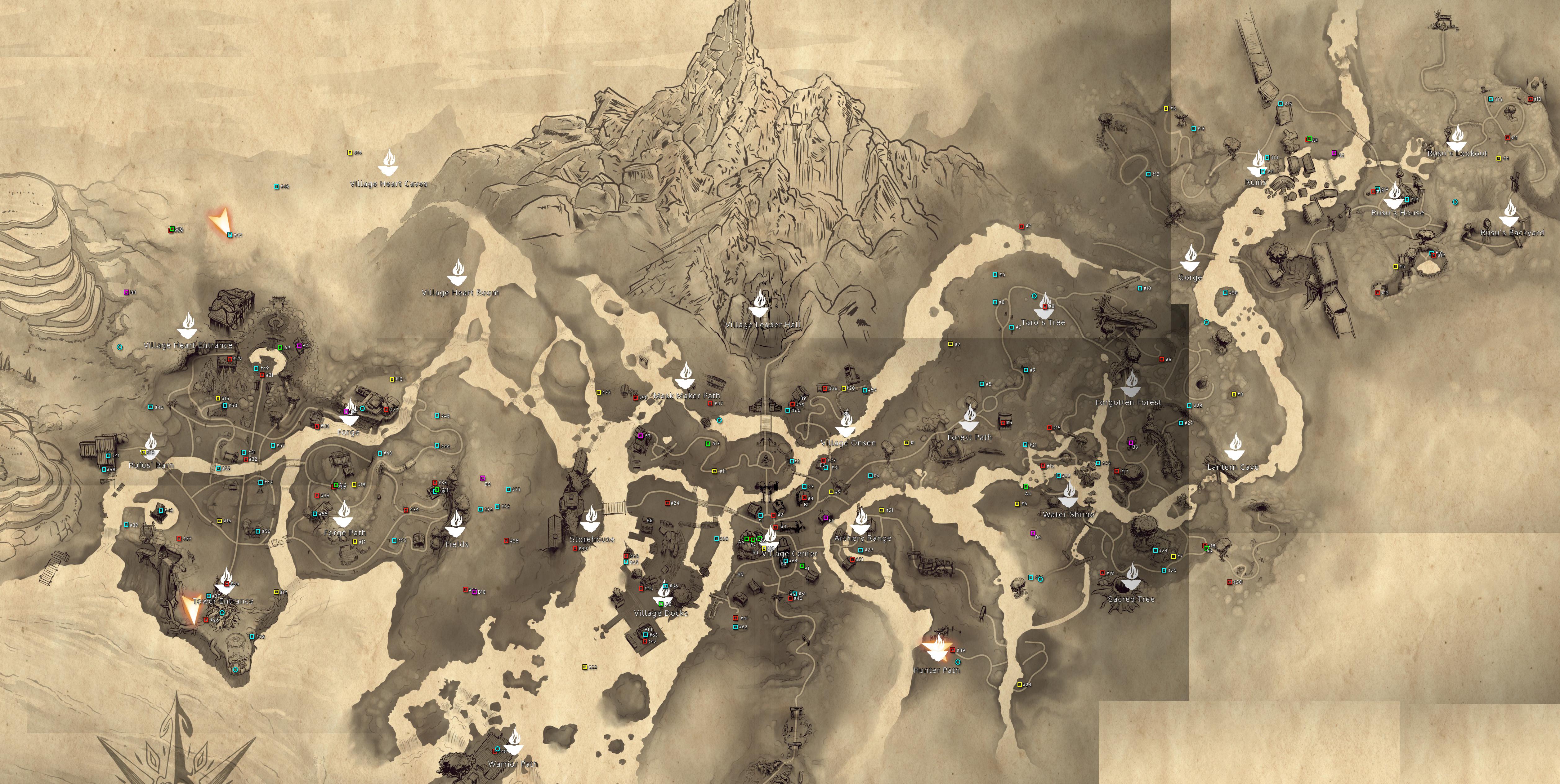 Kena: Bridge Of Spirits Full Map