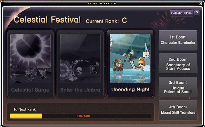 Celestial Festival Options