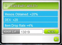 Legendary Ability Mesos Obtained