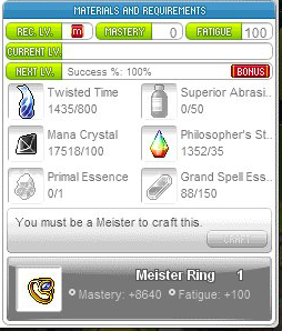 Meister Ring Crafting