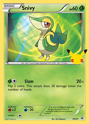 Snivy 25th Anniversary Pokemon TCG