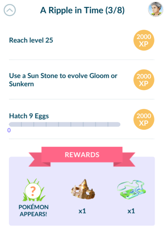 Pokemon Go A Ripple In Time 3/8