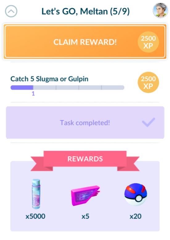Pokemon Go: Lets Go Meltan 5/9